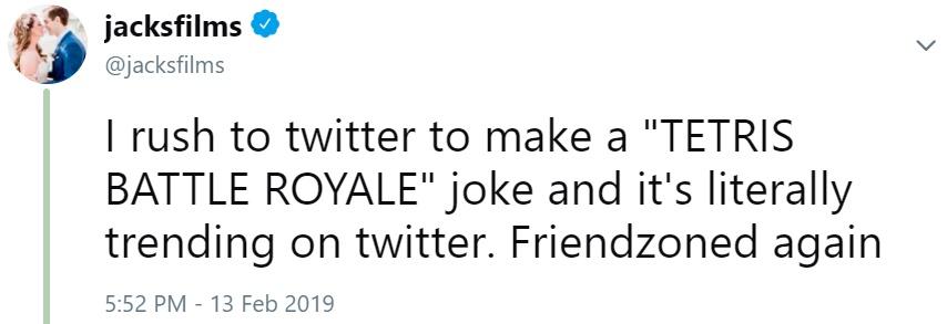 I rush to twitter to make a