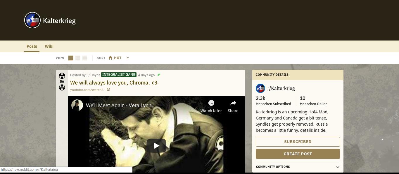 r/Kalterkrieg (new reddit com) | Kaiserreich: Legacy of the