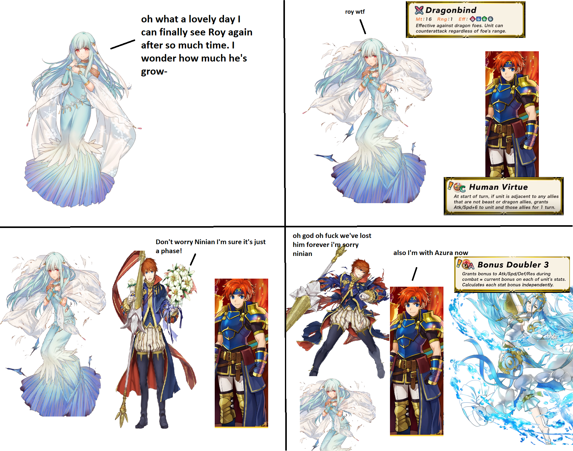 Ninian Learns About Legendary Roy Fire Emblem Heroes Know Your Meme