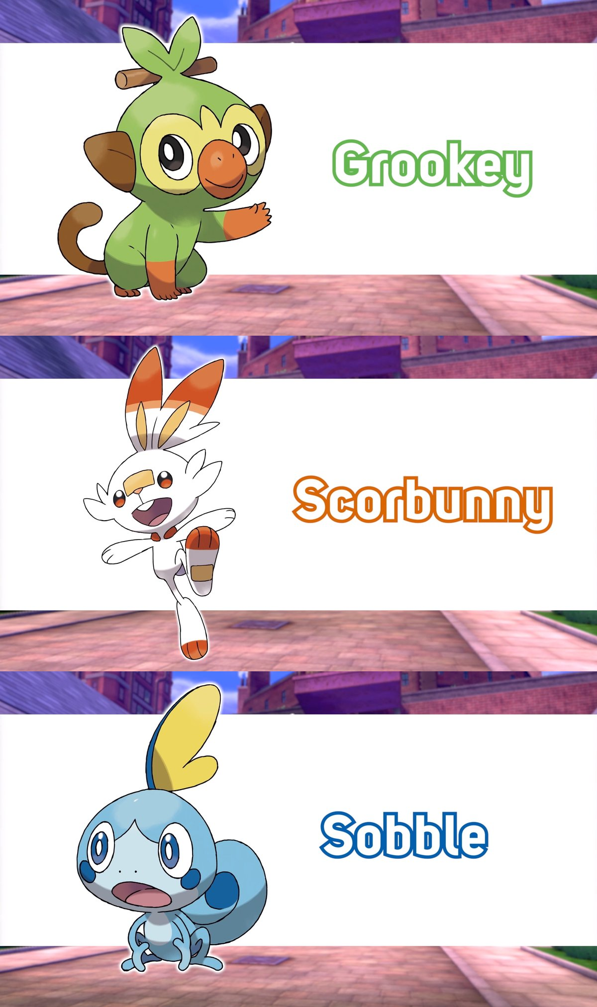 Names Of The 3 Starters Pokemon Sword And Shield Know Your Meme