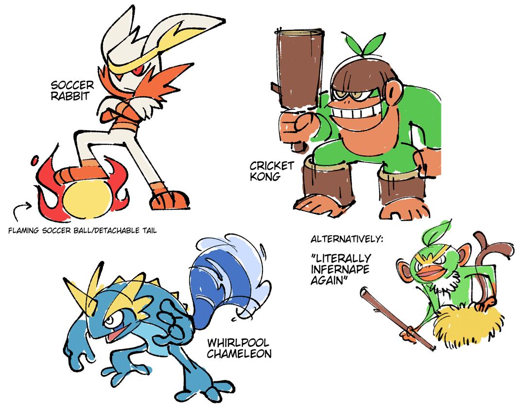 Quick Brainstorm Of Evolution Ideas By Shenaniganza Pokemon Sword