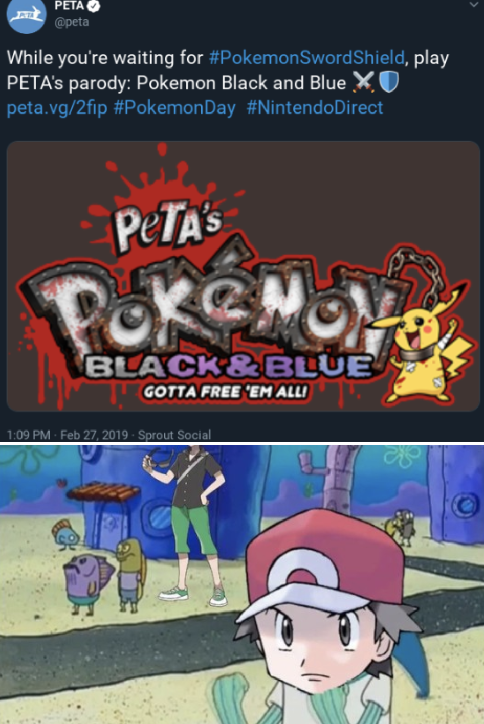 Peta At It Again Pokemon Sword And Shield Know Your Meme