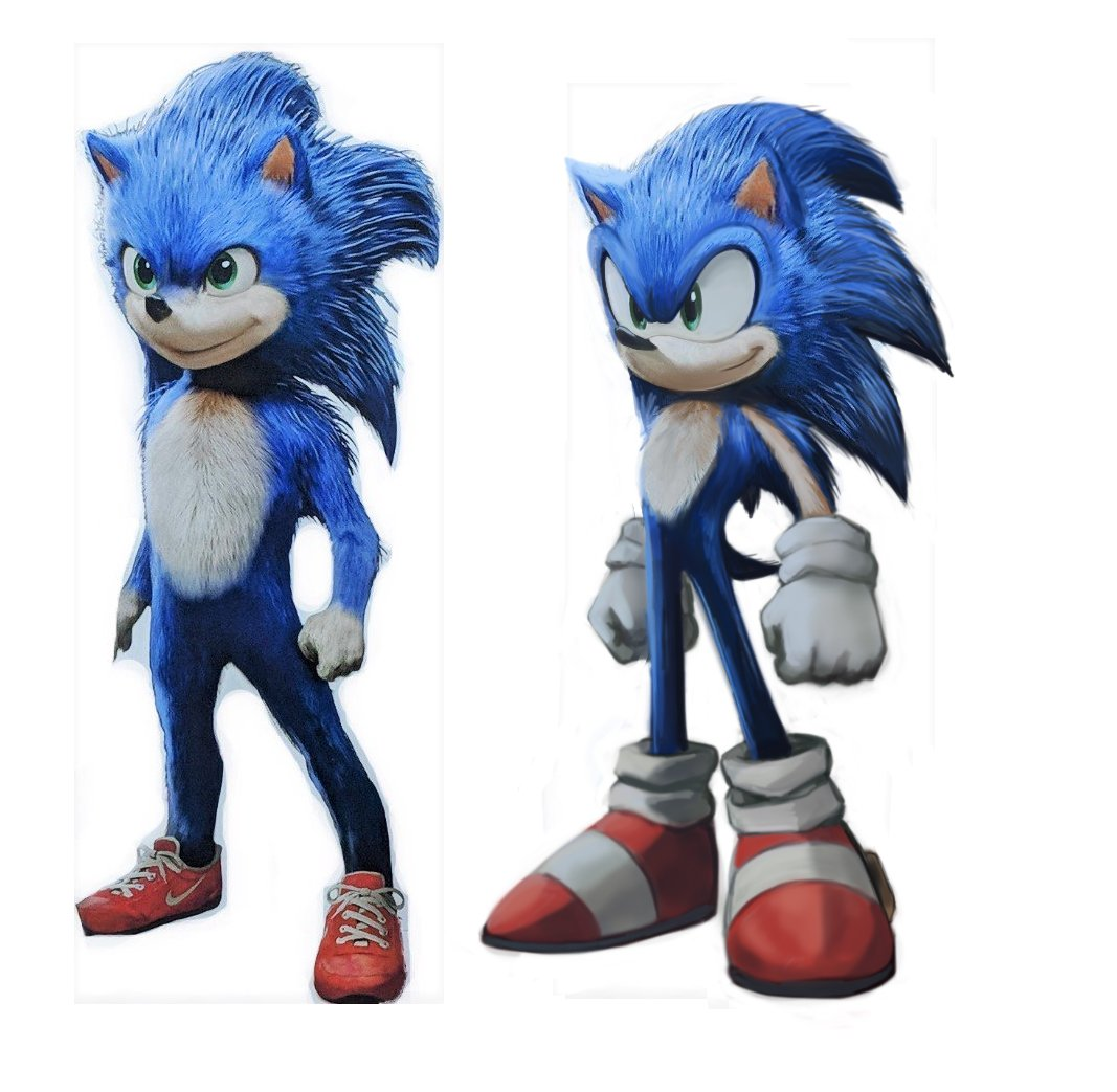 There We Go My Quick Edit Of The Sonic Movie Design Sonic The