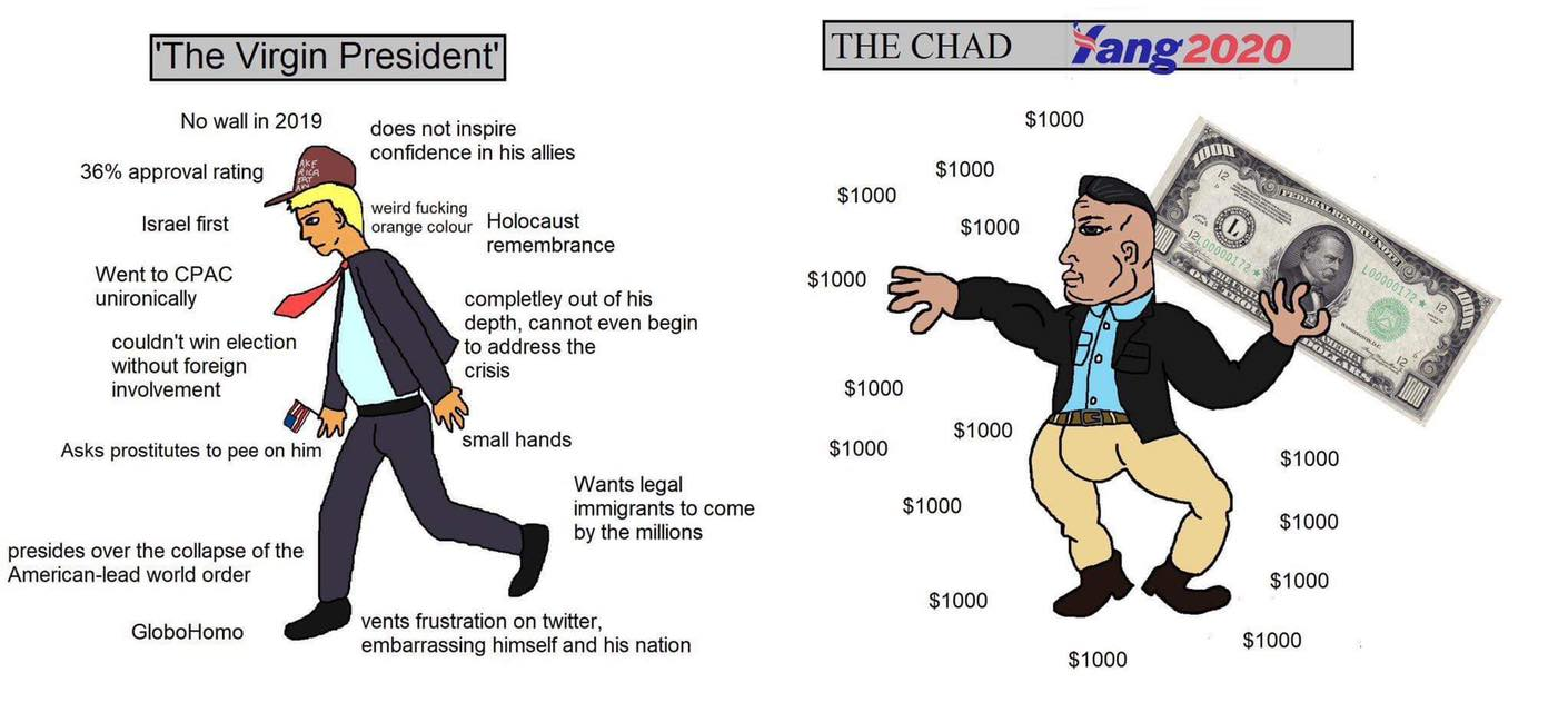 Virgin Trump versus Chad Yang