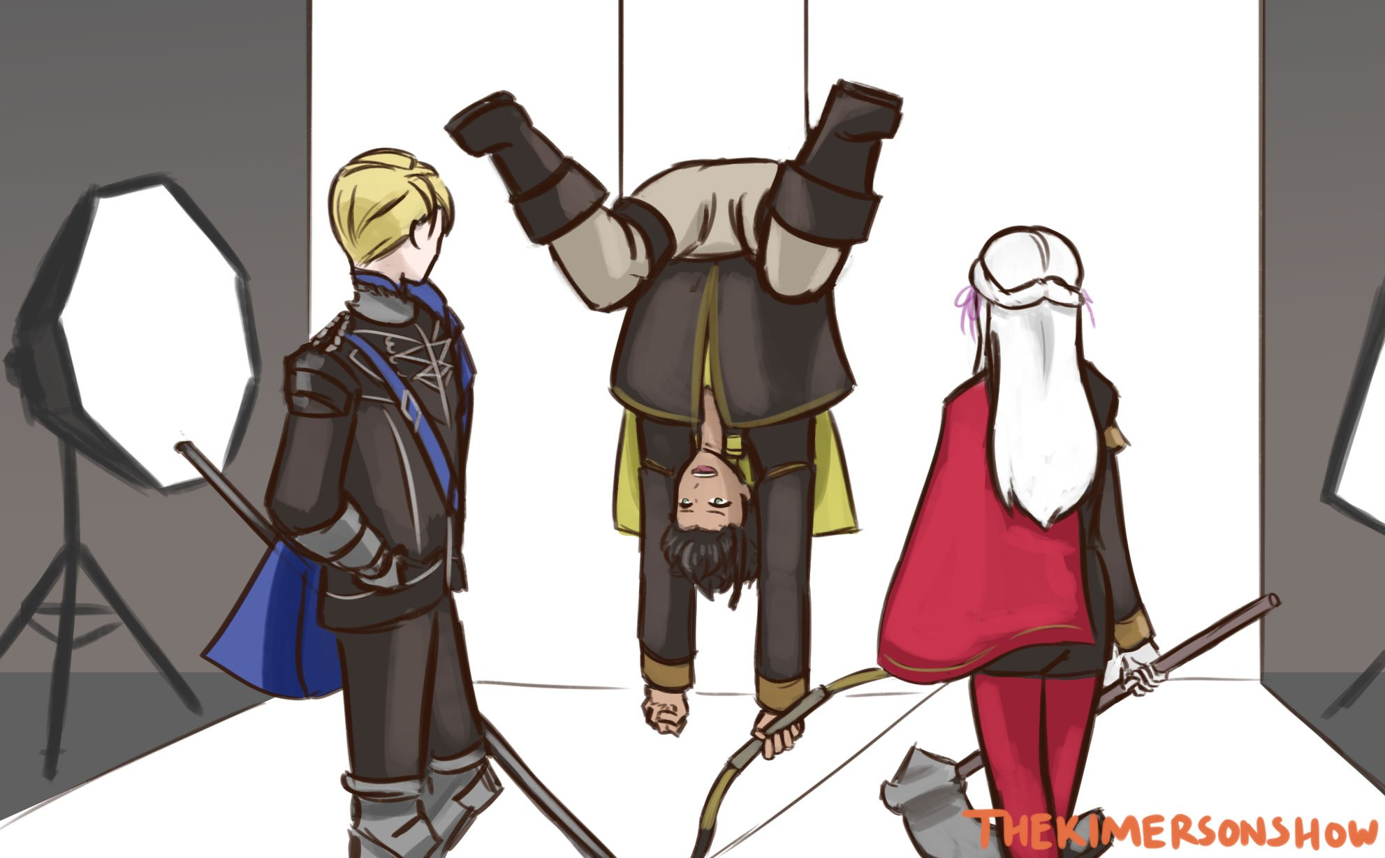 I Bet It Was Claude S Idea To Be Upside Down When They Shot The