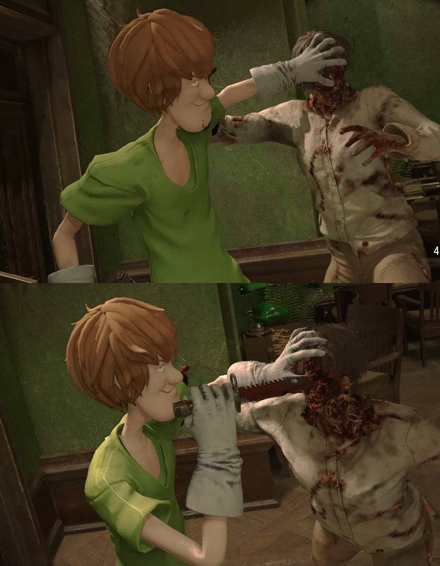 Shaggy mod RESIDENT EVIL 2 REMAKE  | Shaggy Rogers | Know Your Meme