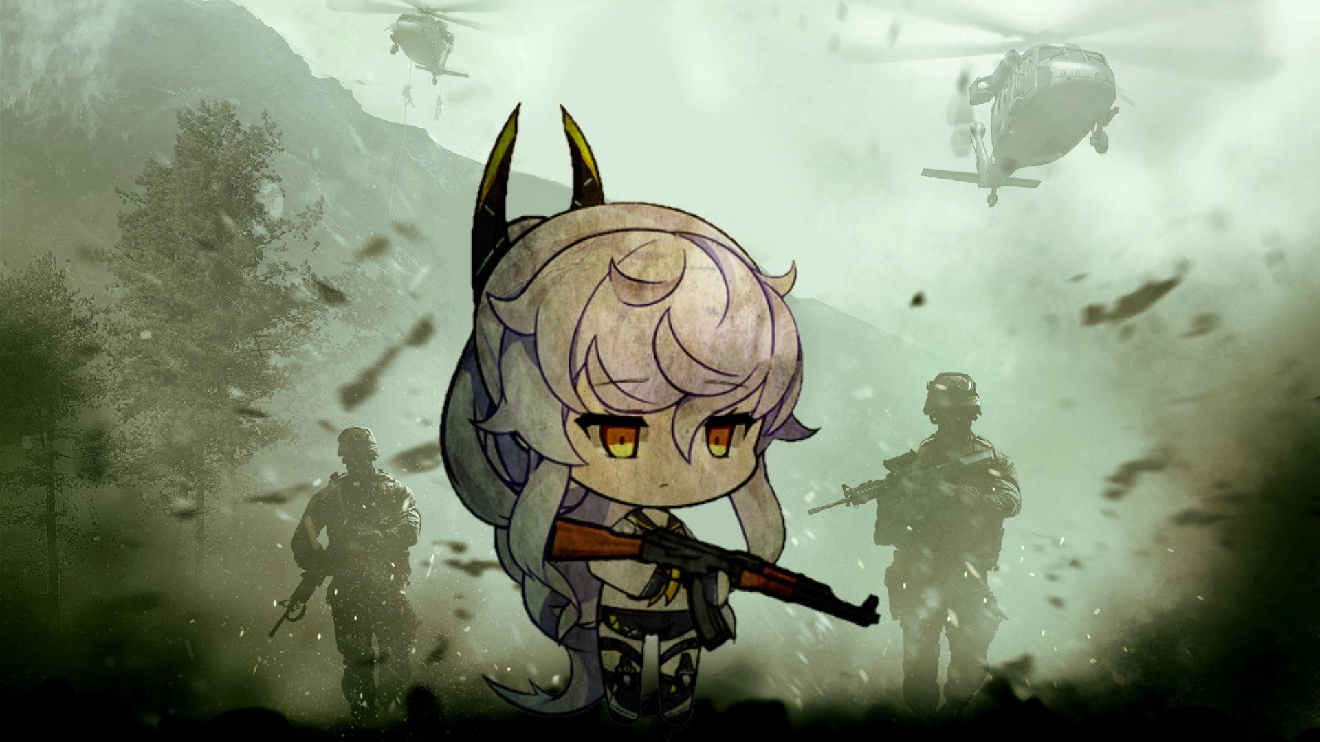 Call Of Duty Modern Warfare With Purifier Wallpaper Azur Lane