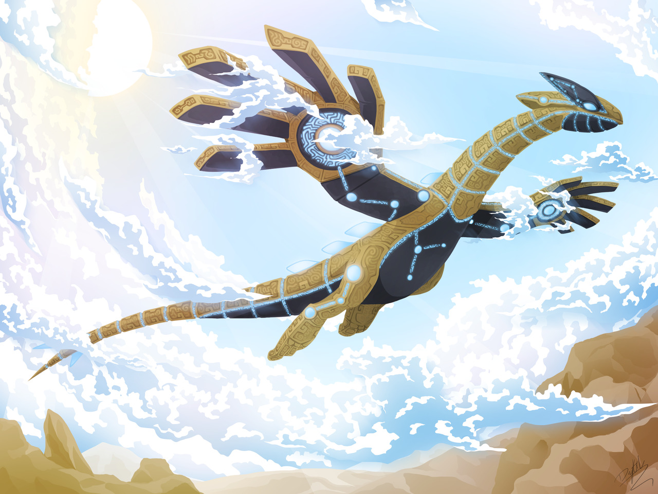 Divine Beast Vah Lugia The Legend Of Zelda Breath Of The