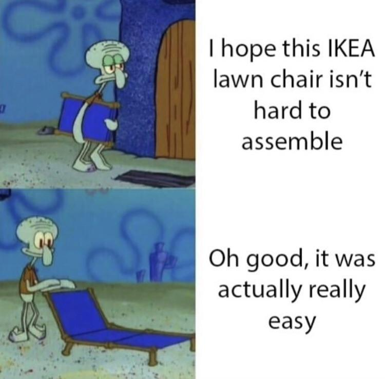 lawn chair   Squidward's Lounge Chair   Know Your Meme