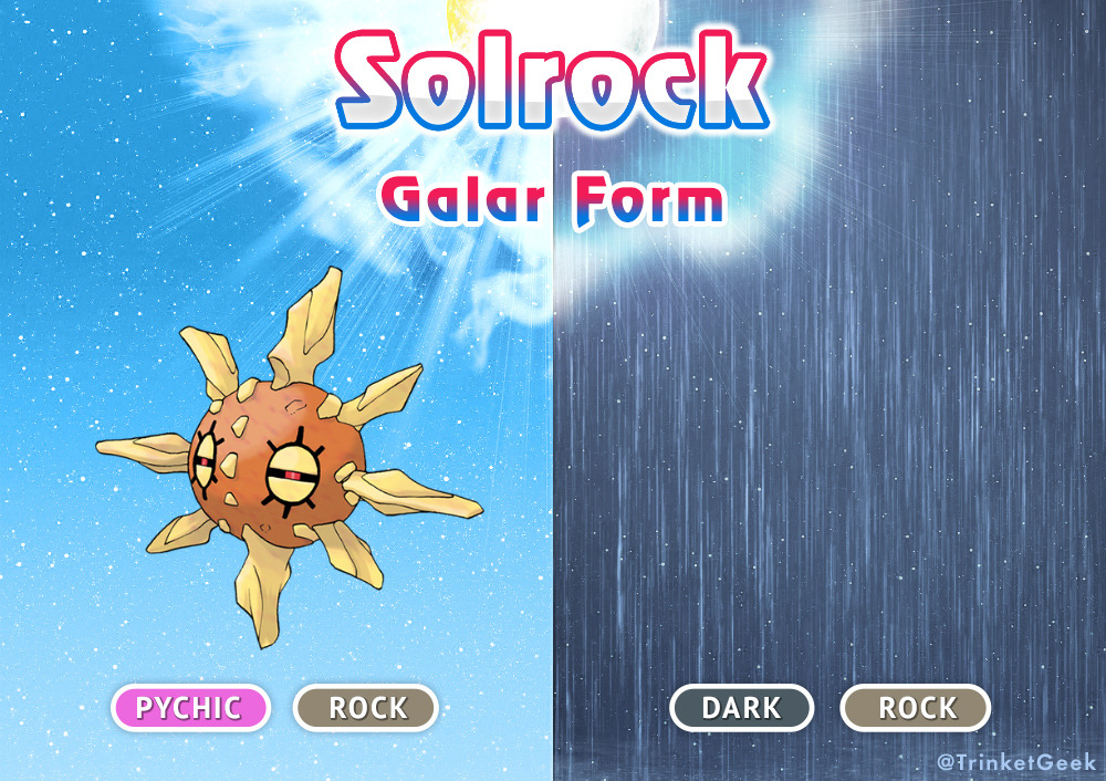 Galar Solrock Pokemon Sword And Shield Know Your Meme