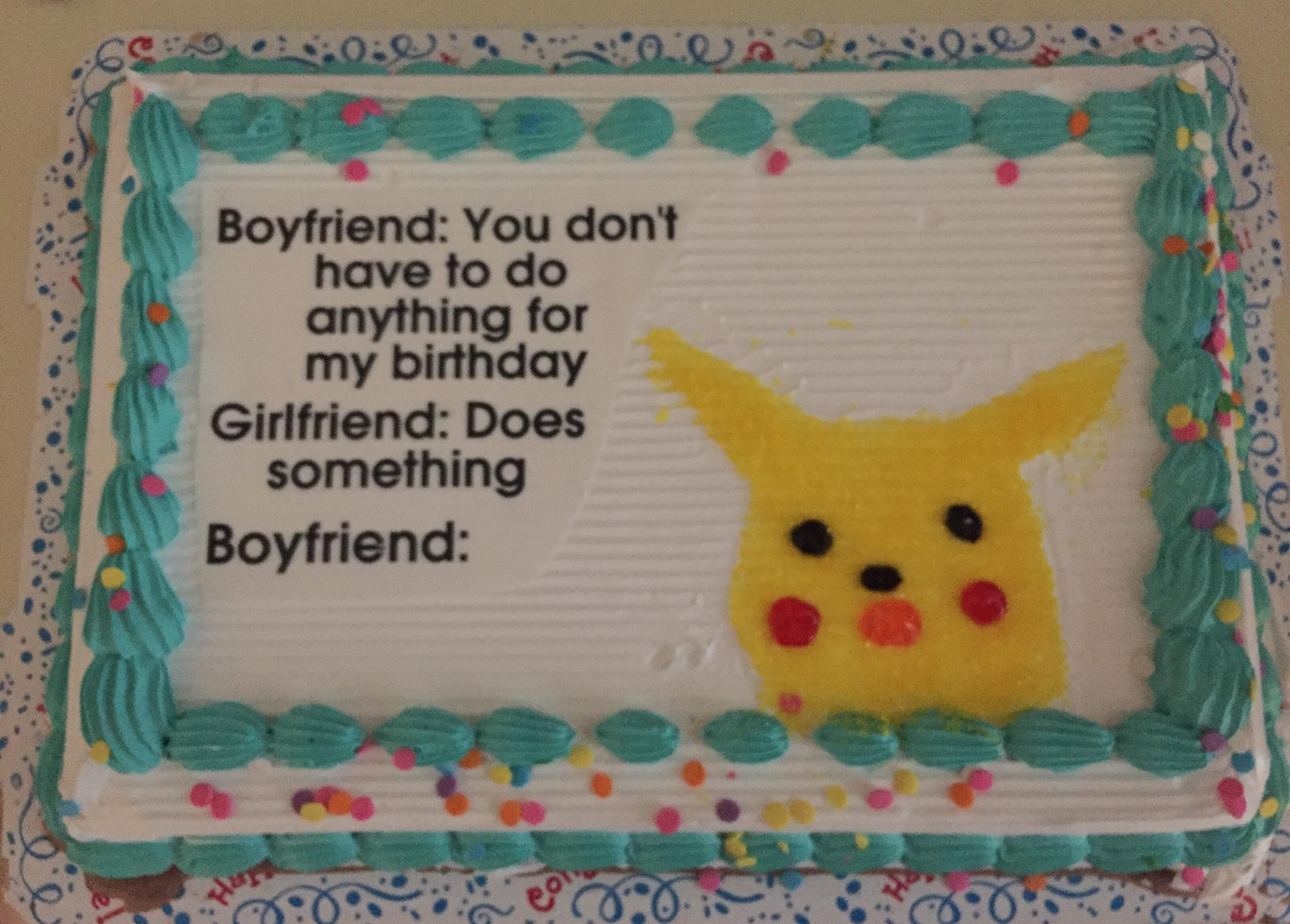 Super Birthday Cake Surprised Pikachu Know Your Meme Personalised Birthday Cards Veneteletsinfo