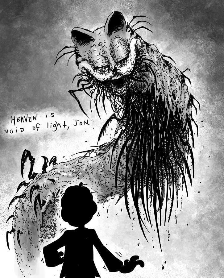 Creepy Garfield 2 By Omega Black Creepy Garfield Know Your Meme