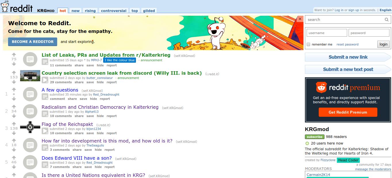 r/KRGmod (old reddit com) | Kaiserreich: Legacy of the