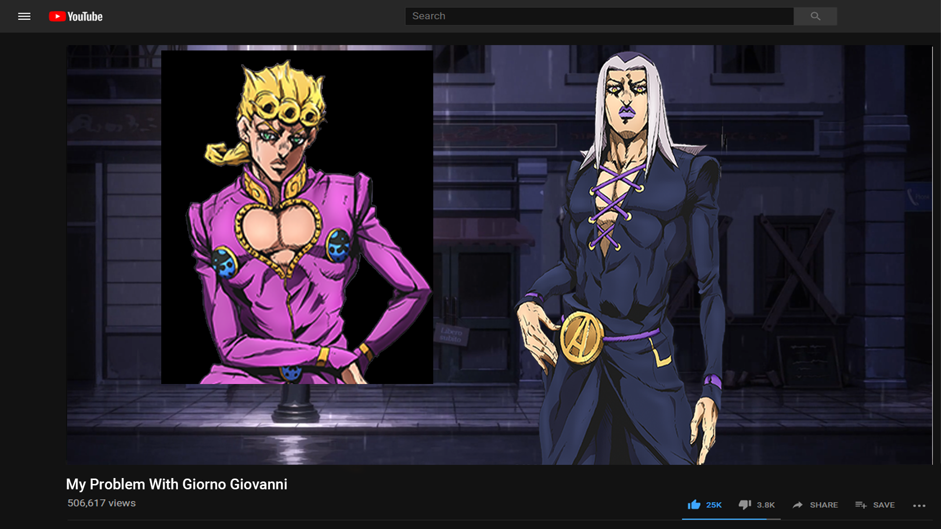 Abbacchio Started His New Youtube Channel Rantsona Know Your Meme