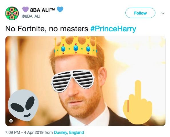 Prince Harry Wants To Ban Fortnite Reddit   Fortnite Cost Of