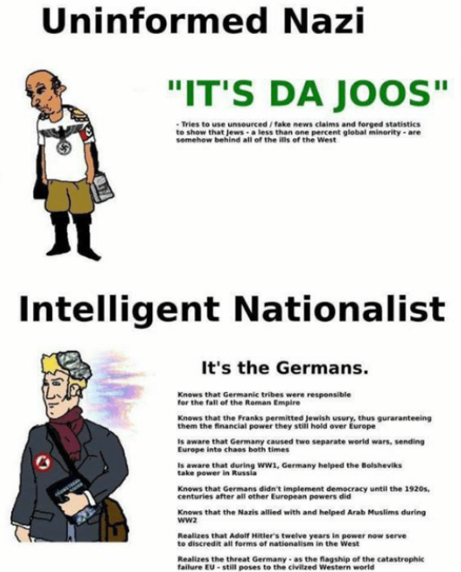 Uninformed Nazi And Inteligent Nationalist Greenpill Know Your Meme