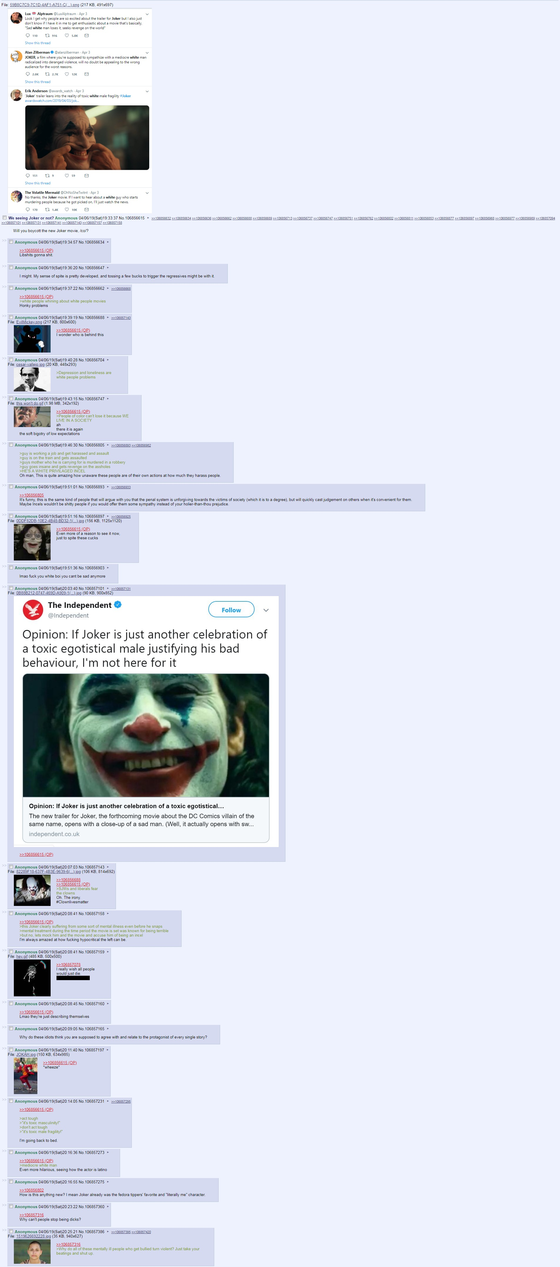 4chan Reacts To Twitter Outrage Joker 2019 Film Know