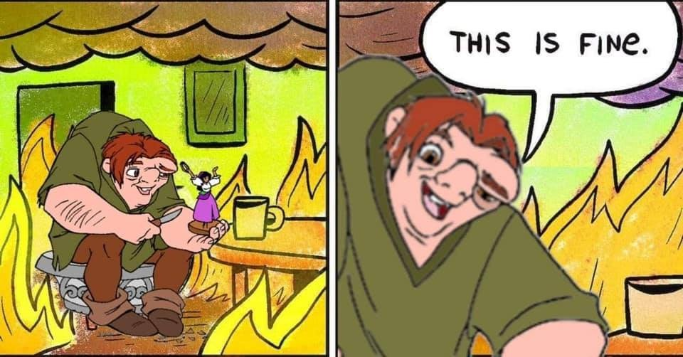 25 Best Memes About Dog Fire This Is Fine Meme Dog Fire This