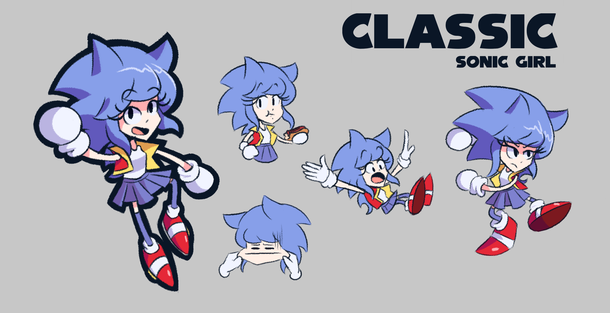 Classic Sonic Girl Sonic The Hedgehog Know Your Meme