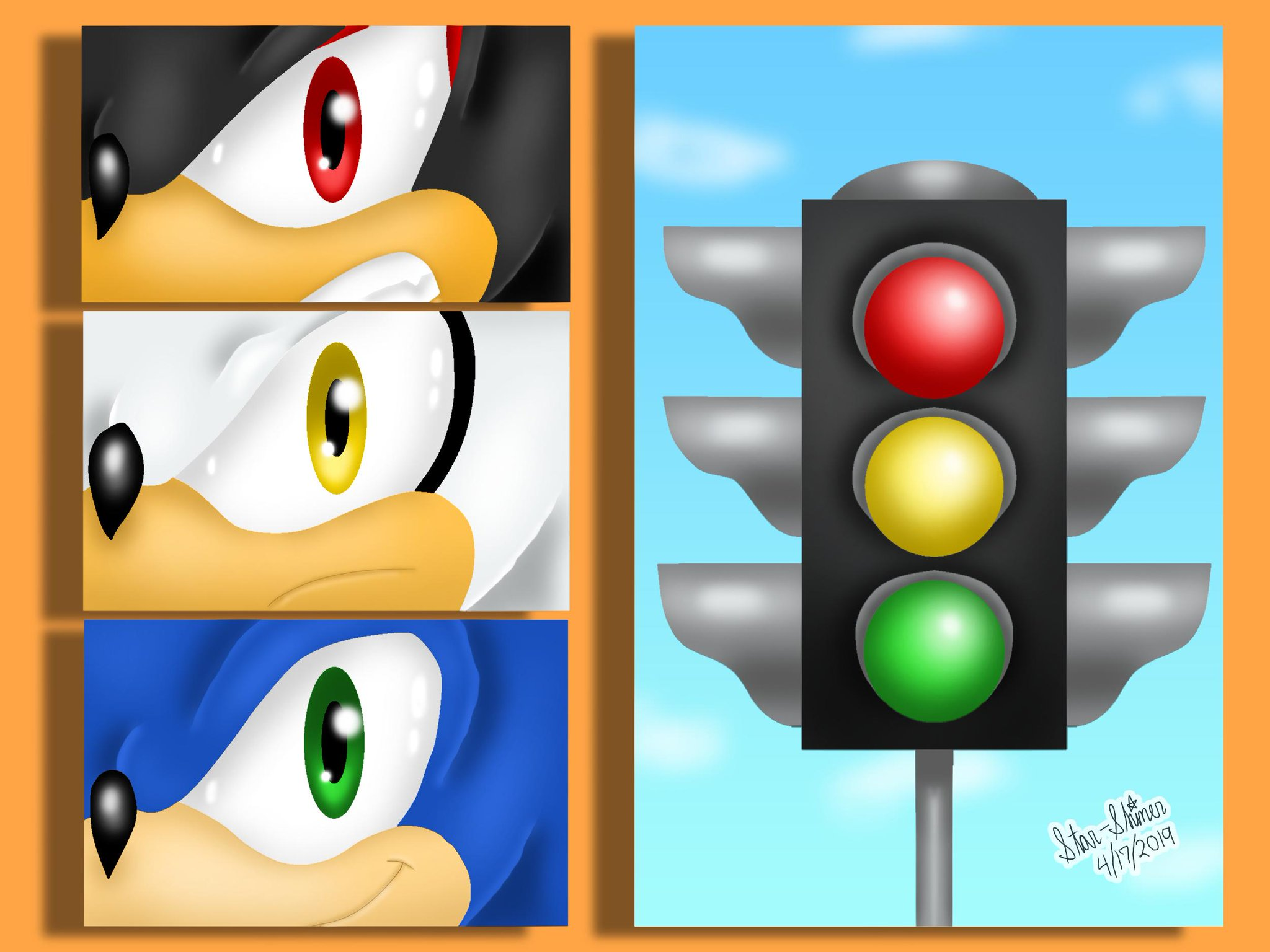 Red Yellow And Green Sonic The Hedgehog Know Your Meme