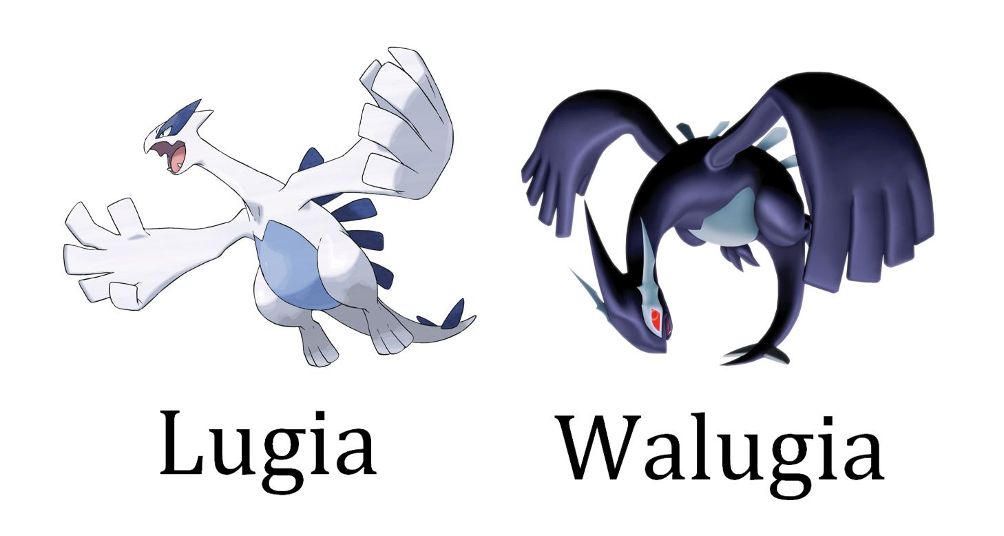 6b1d4e24 LugiaWalugia Pokémon XD: Gale of Darkness Cartoon Logo