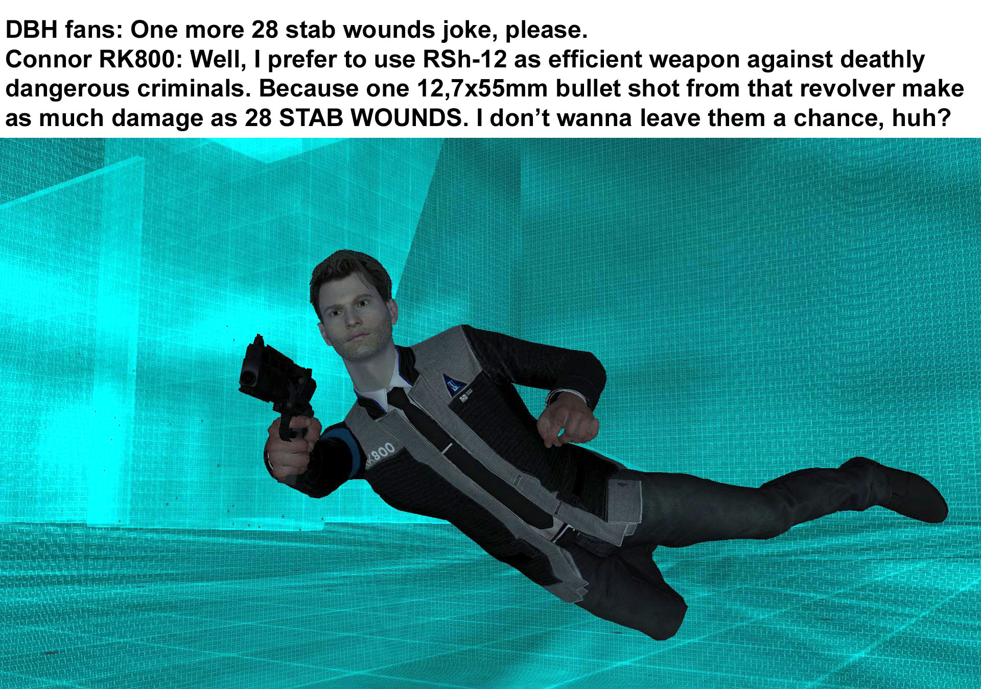 Connor 28 Stab Wounds Meme - Meme Painted