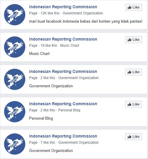 Multiple Accounts by IReC   Indonesian Reporting Commission Facebook