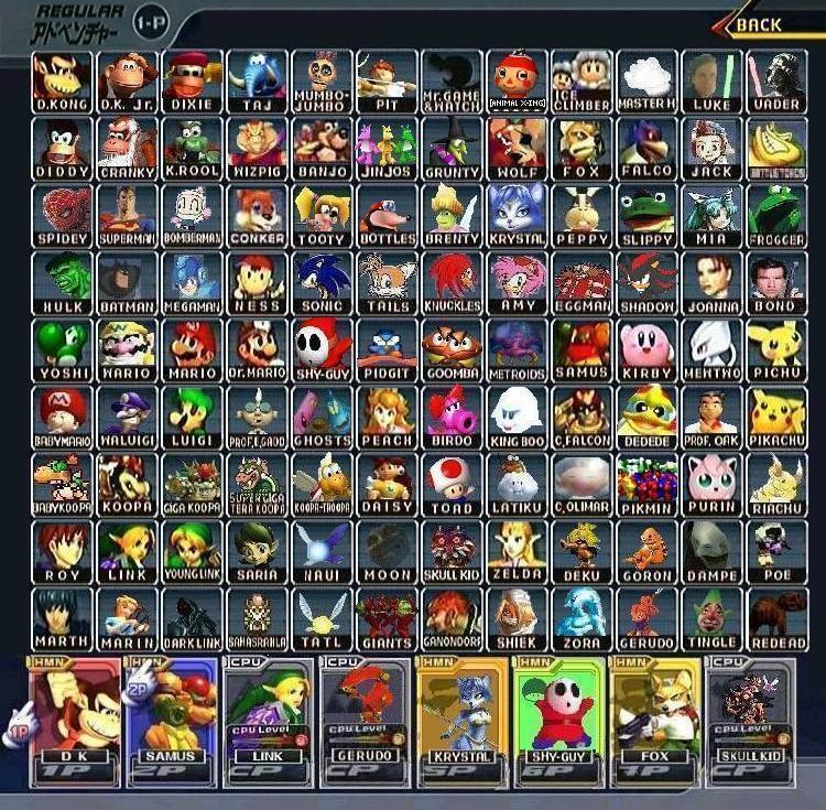 Super Smash Bros  Melee Expanded Roster   Super Smash Brothers