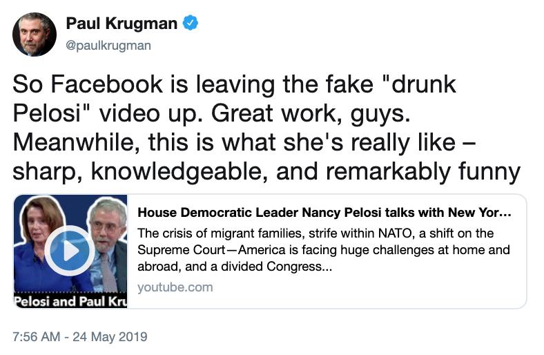 Facebook   Drunk Nancy Pelosi   Know Your Meme