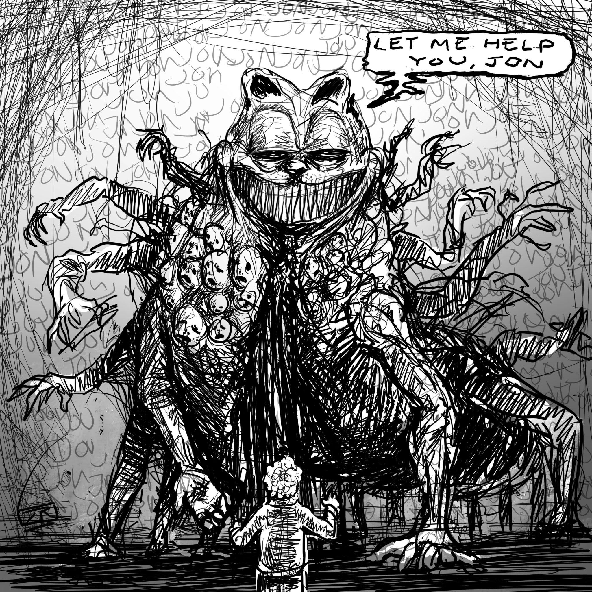 Give Me Your Hand By Rojom Creepy Garfield Know Your Meme
