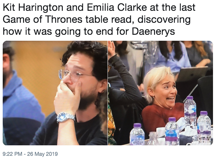 Kit Harington And Emilia Clarke At The Last Game Of Thrones Table Read Discovering How It Was Going To End For Daenerys Kit Harington Shocked Know Your Meme,Abandoned Town For Sale Canada