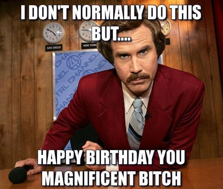 Happy Birthday And Stay Classy Happy Birthday Memes Know Your Meme