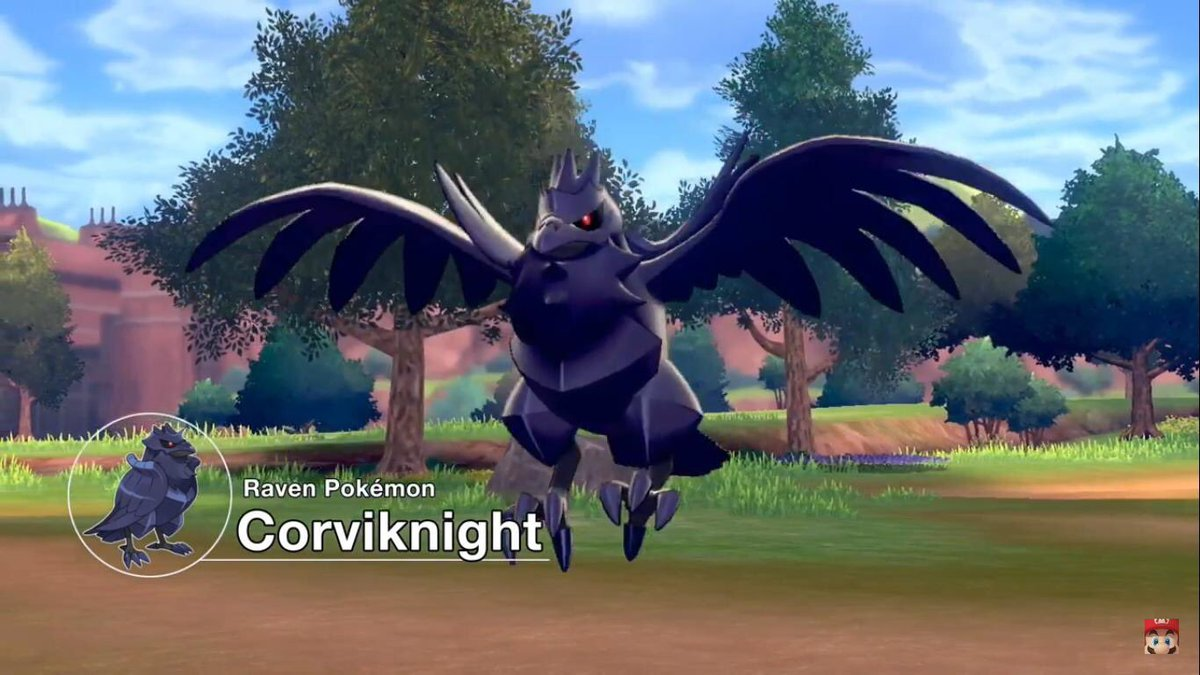 Corviknight Raven Pokemon And Taxi Service Pokemon Sword And