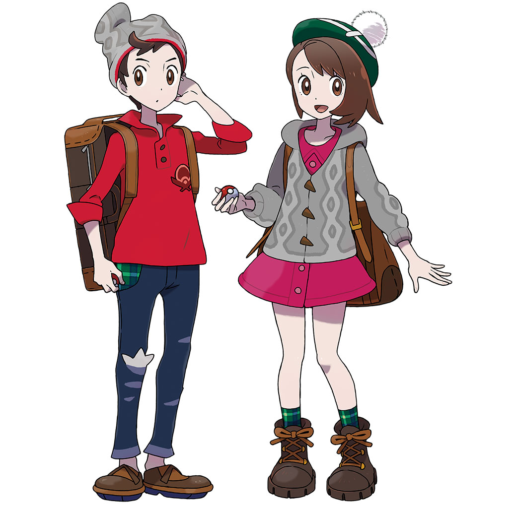 Official Renders Of Player Characters Pokemon Sword And Shield