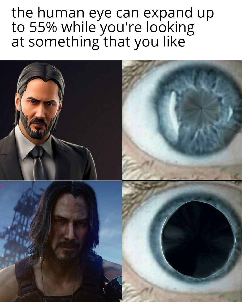 John Wick Is The Best Cyberpunk 2077 Keanu Reeves We Have A City To Burn Know Your Meme