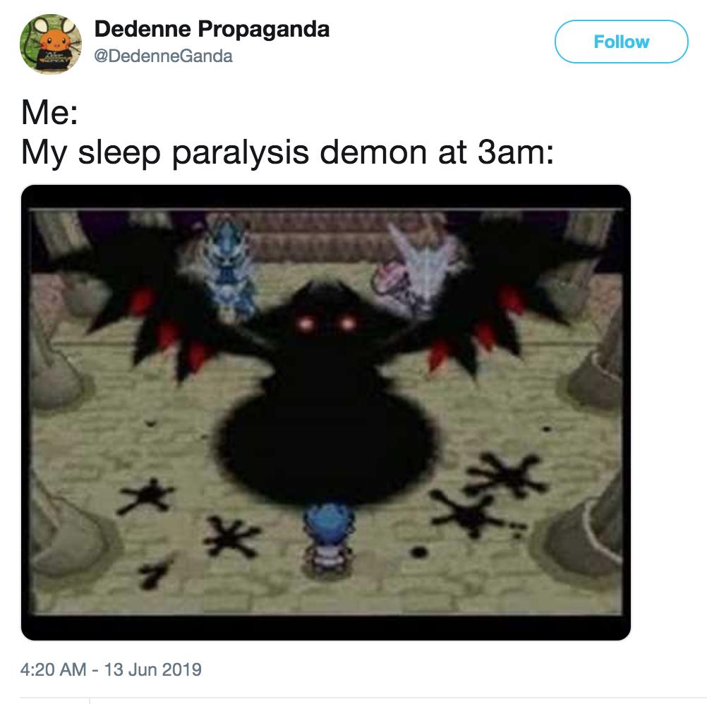 Giratina | Sleep Paralysis Demon | Know Your Meme