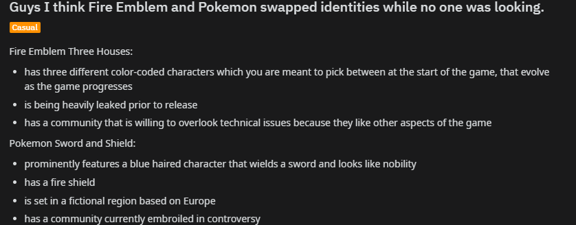 Fire Emblem And Pokemon Swapped Identities While No One Was Looking
