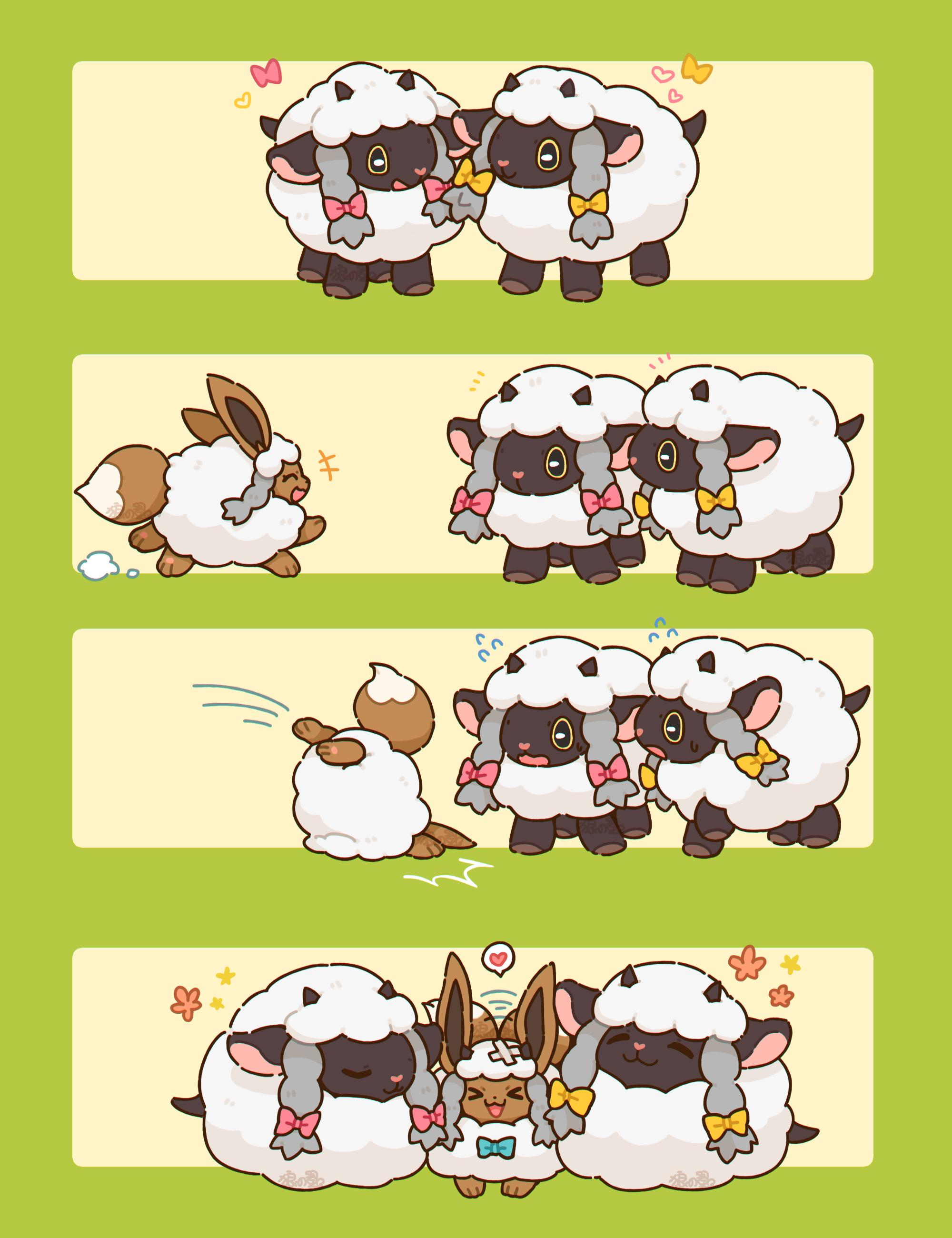 Eevee Meet New Friends Wooloo Know Your Meme