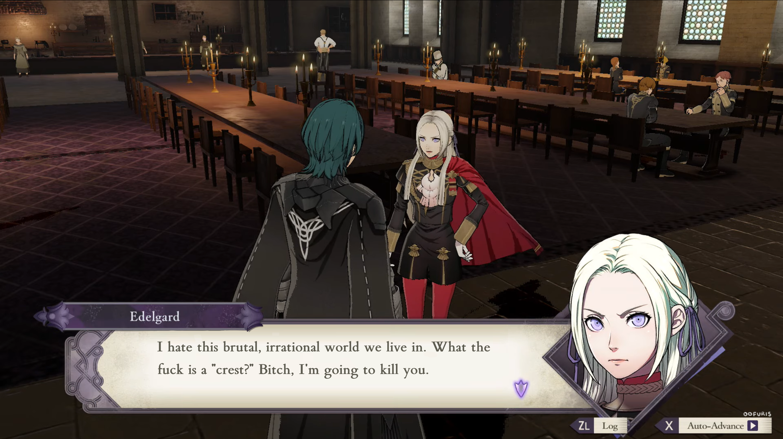 Leaked Edelgard Dialogue Fire Emblem Three Houses Know Your Meme