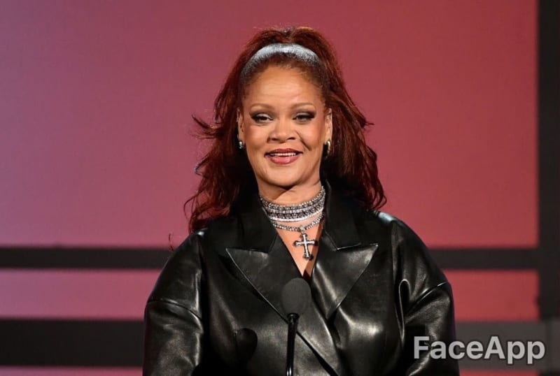 Rihanna   FaceApp Age Filter   Know Your Meme