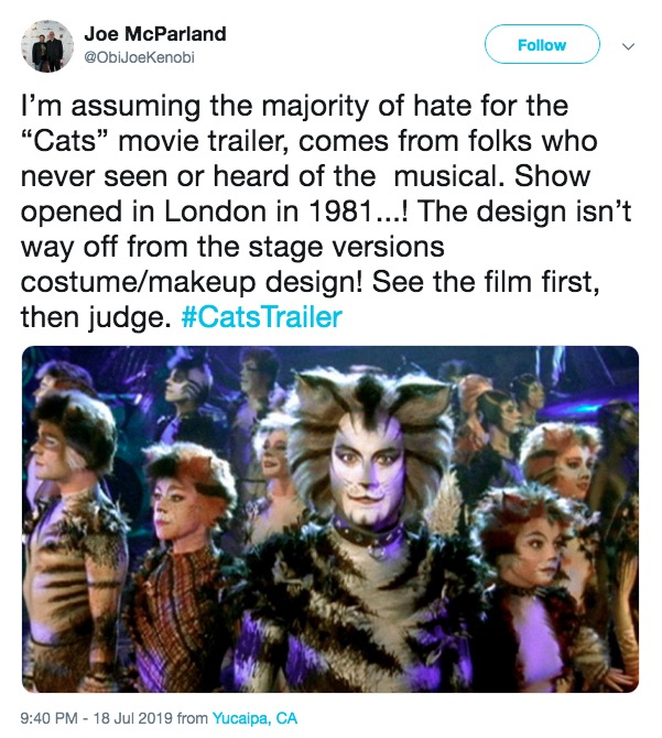 Stage Musical Cats 2019 Film Know Your Meme