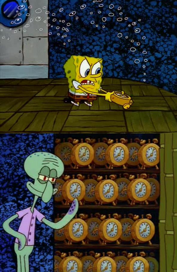 Spongebob Clock Meme Template | Planning Template