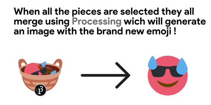 When all the pieces are selected | Emoji Mashup Bot | Know