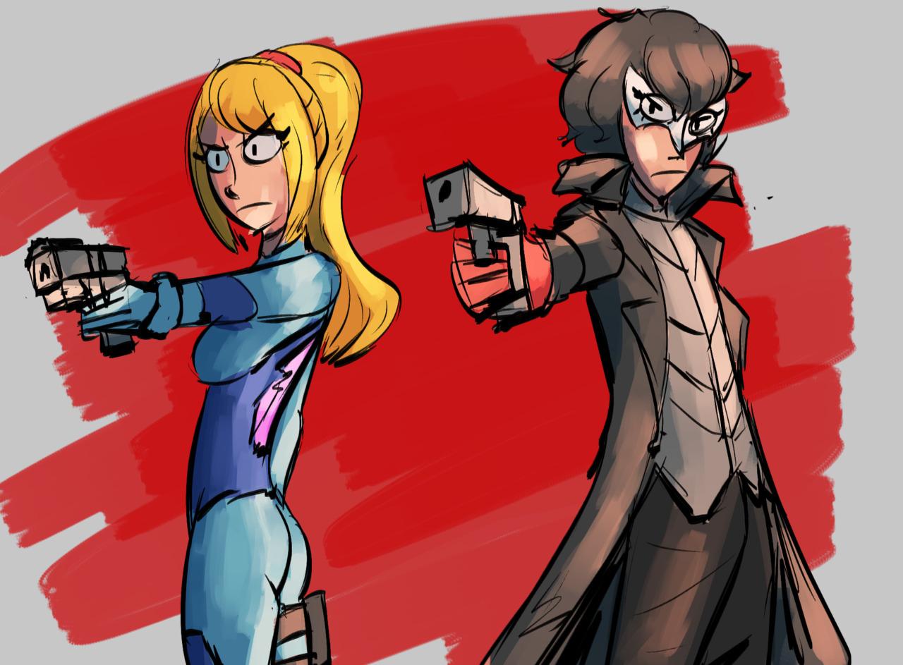 Joker And Zero Suit Samus Super Smash Brothers Ultimate