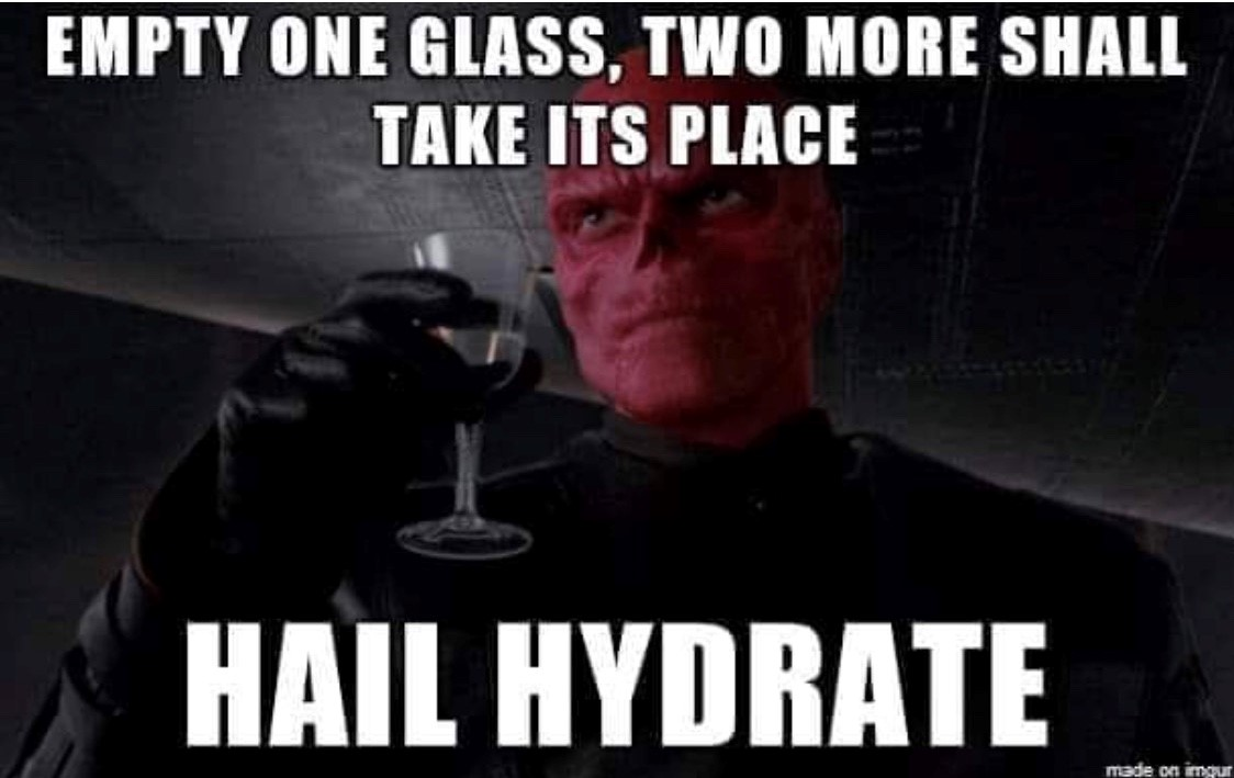 Image result for hydration memes""