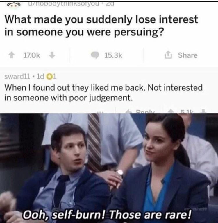 Not interested in dating meme