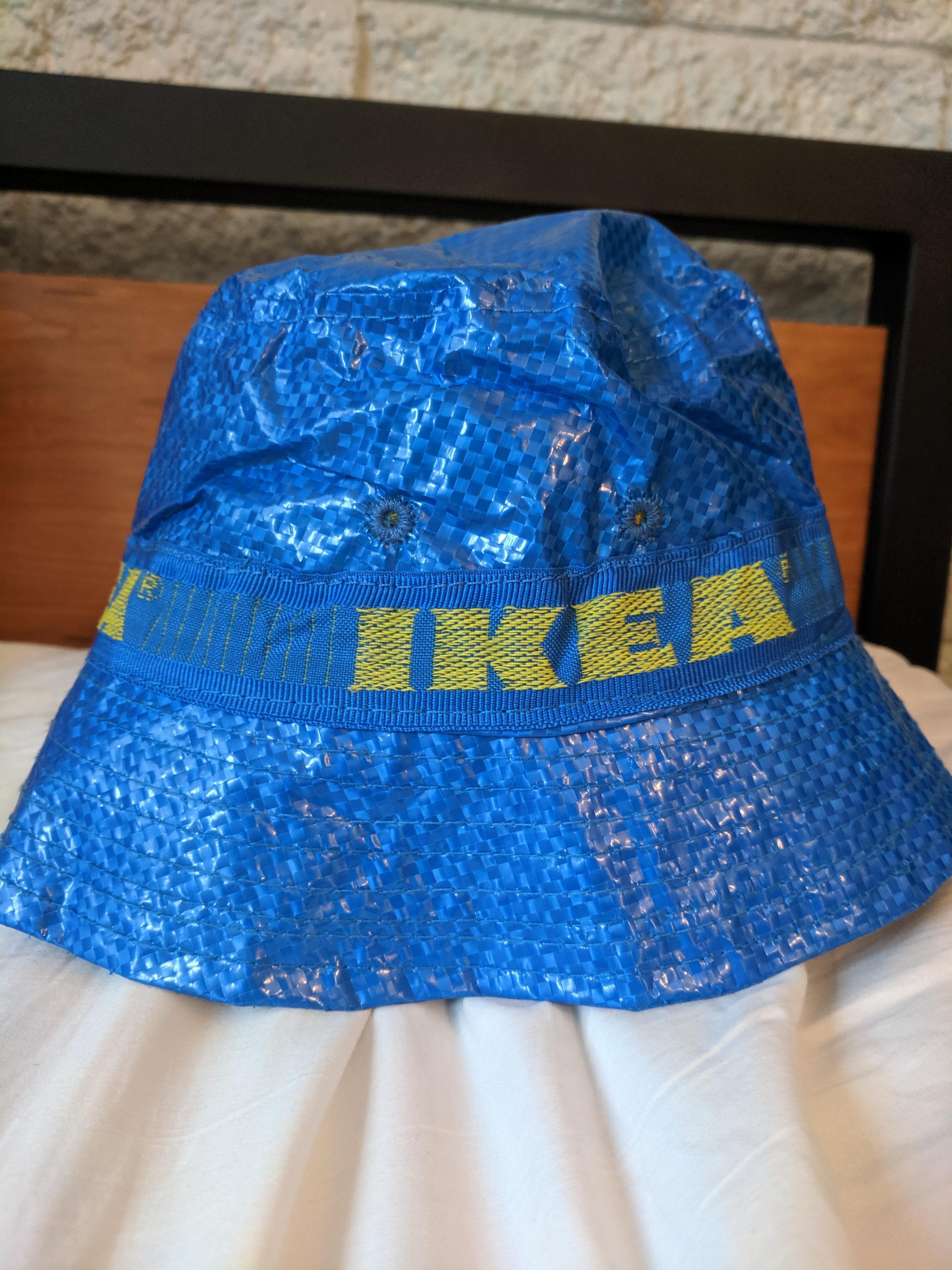 IKEA Baseball Cap Reworked Snap Back Made from Frakta Bag Festival Clothing Plur