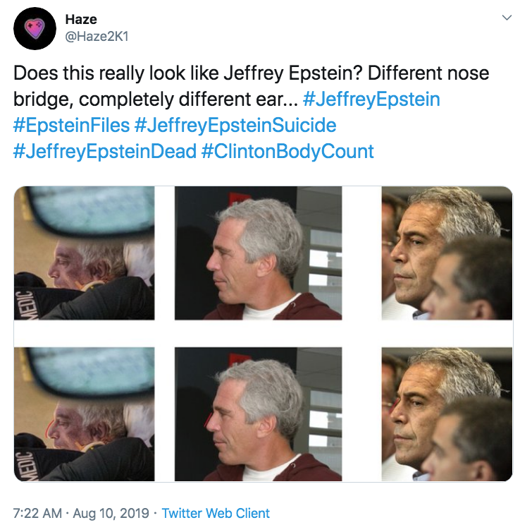 Image result for epstein nose different