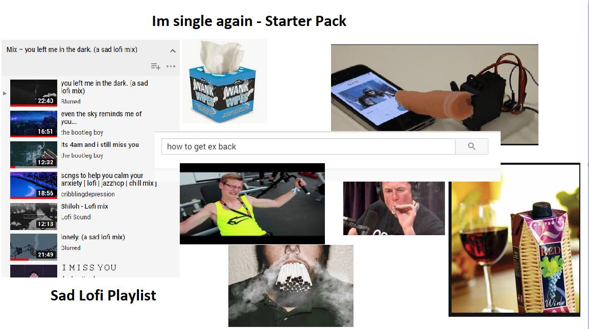 Im single again starter pack | r/starterpacks | Starter