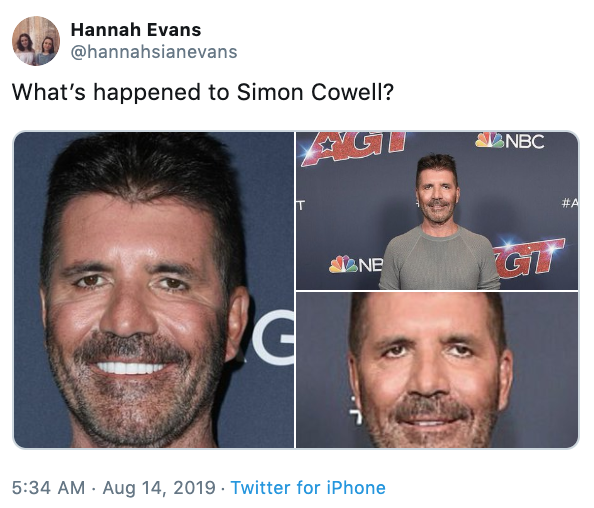 What Happened Simon Cowell S Face Know Your Meme
